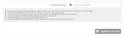 Code reduction 3 suisses article volumineux
